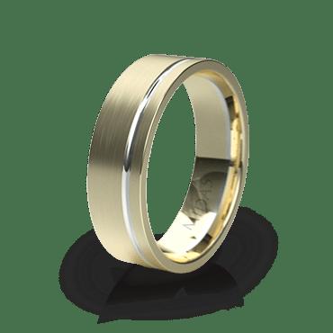 Plain Wedding Band with Single Groove (QF1396)