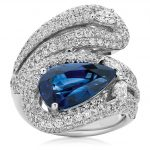 Royal Blue Sapphire and Diamond Dress Ring