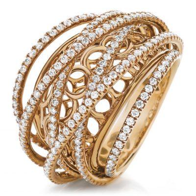 Exquisite Rose Gold and Diamond