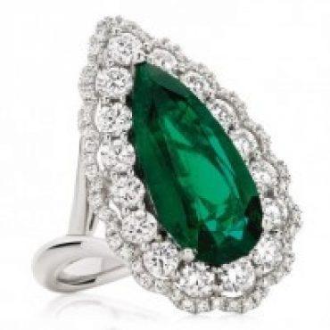 Radiant Emerald Ring