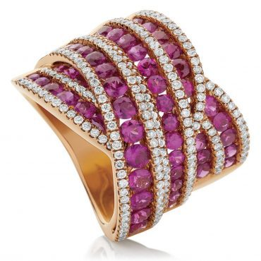 Romantic Rows of Pink Rubies