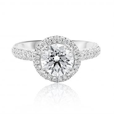 Round Brilliant Dazzling Halo Engagement Ring