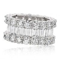 Round Brilliant and Baguette Cut Diamonds Eternity Band