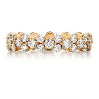 Round Cut Diamond Rose Gold Wedding Band