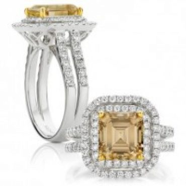 Square Emerald Cut Fancy Yellow Diamond