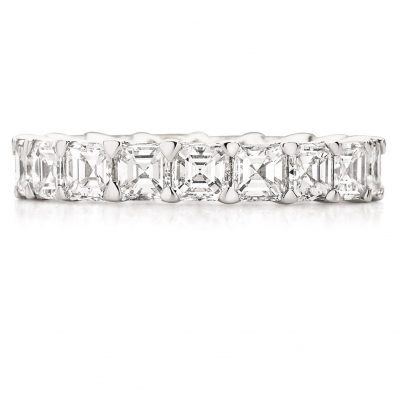 The Asscher Cut Diamond Wedding Band