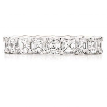 Asscher Cut Diamond Wedding Band